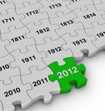 Anni di puzzle di puzzle Immagine Stock Libera da Diritti