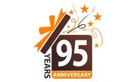 95 anni di regalo del contenitore di anniversario del nastro Immagini Stock