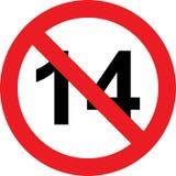 14 anni di segno di limitazione illustrazione di stock