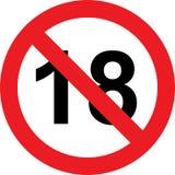 18 anni di segno di limitazione royalty illustrazione gratis