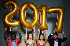 2017 anni felice Immagini Stock Libere da Diritti