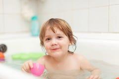 2 anni felici di bambino Fotografia Stock