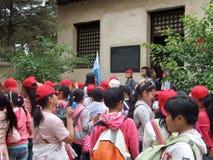 1947---1949 anni, Mao ed i suoi camerati nella vita e nel posto di lavoro Fotografia Stock Libera da Diritti