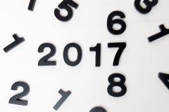 2017 anni nel fondo bianco Immagine Stock