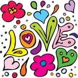 Anni sessanta di amore Immagine Stock Libera da Diritti