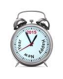 2015 anni sulla sveglia Fotografie Stock Libere da Diritti
