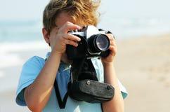 7 anni svegli del ragazzo Fotografie Stock