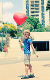 6 anni svegli del ragazzo Fotografia Stock Libera da Diritti