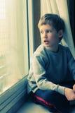 6 anni svegli del ragazzo Fotografia Stock