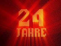 Anni ventiquattro di numero dorato tedesco 3d rendono royalty illustrazione gratis