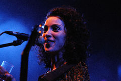 Annie Clark, lead singer of St. Vincent Royalty Free Stock Photos