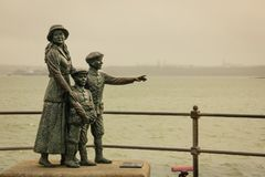 Annie Moore Monument. Cobh. Ireland. Annie Moore Monument, Annie Moore and her brothers were the first immigrants to the United States to pass through the Ellis royalty free stock photo