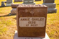 Annie Oakley gravesite in Ohio royalty free stock images