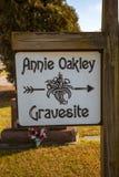 Annie Oakley gravesite w Ohio zdjęcie royalty free