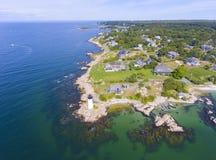 Annisquam Harbor Lighthouse, Cape Ann, Massachusetts Stock Photos