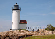 Annisquam Light. Gloucester, MA, on a sunny spring day stock images