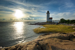 Annisquam lighthouse. Located near Gloucester, Massachusetts Royalty Free Stock Photos