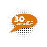Anniversaire, 30 ans d'icône multicolore Peut être employé pour le Web, logo, l'appli mobile, UI, UX illustration de vecteur