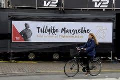 ANNIVERSAIRE 75 CELEBRATONS DE LA REINE MARGTRHE II Photographie stock libre de droits