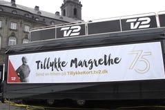 ANNIVERSAIRE 75 CELEBRATONS DE LA REINE MARGTRHE II Photos libres de droits