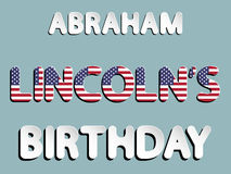 Anniversaire d'Abraham Lincoln Illustration de Vecteur