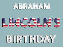 Anniversaire d'Abraham Lincoln Image stock