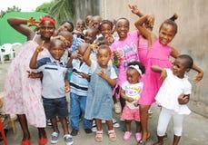 ANNIVERSAIRE D'ENFANT AFRICAIN Image libre de droits