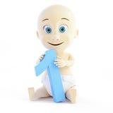 Anniversaire de bébé un an Photo stock
