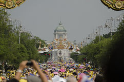 Anniversaire de célébration du Roi Thailand Image libre de droits