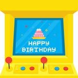 Anniversaire de gâteau de machine d'arcade Photo libre de droits