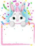 Anniversaire de lapin de chéri Photo stock