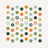 Anniversaire Dots Pattern Photo libre de droits