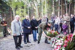 Anniversaire du premier entraînement militaire les militaires polonais o Images libres de droits