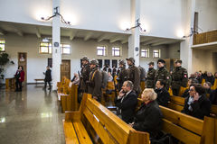 Anniversaire du premier entraînement militaire les militaires polonais o Photo libre de droits