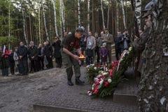 Anniversaire du premier entraînement militaire les militaires polonais o Image libre de droits