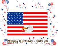 anniversaire Etats-Unis heureux Image libre de droits