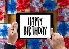 Anniversaire g de la partie HBD de félicitation de célébration de joyeux anniversaire Image stock