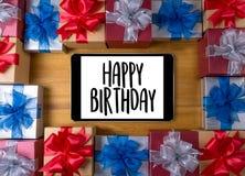 Anniversaire g de la partie HBD de félicitation de célébration de joyeux anniversaire Photographie stock