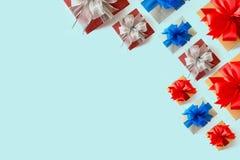 anniversaire heureux Chri de carte de voeux de vacances de Noël de boîte-cadeau Image stock