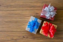 anniversaire heureux Chri de carte de voeux de vacances de Noël de boîte-cadeau Photo stock