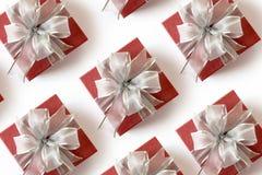 anniversaire heureux Chri de carte de voeux de vacances de Noël de boîte-cadeau Photos stock