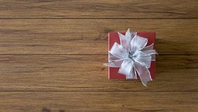 anniversaire heureux Chri de carte de voeux de vacances de Noël de boîte-cadeau Photos libres de droits