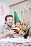 Anniversaire musulman de famille Images libres de droits