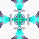 Anniversaire utilisé par kaléidoscope de batik Images stock