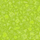 Anniversaire vert de fond Photos stock