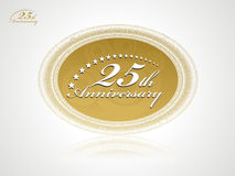 anniversario 25 Immagini Stock