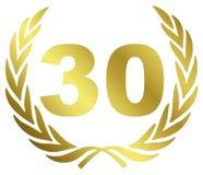 Anniversario 30 Fotografia Stock Libera da Diritti