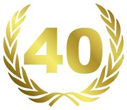 Anniversario 40 Fotografia Stock