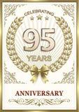 Anniversario 95 anni illustrazione di stock