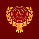 Anniversario, 70 anni di icona multicolore Può essere usato per il web, il logo, il app mobile, UI, UX illustrazione vettoriale